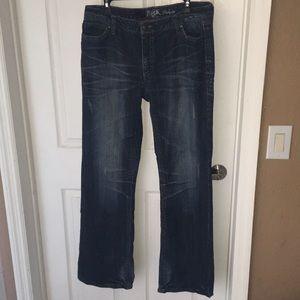 Wrangler rock low rise jeans 13 34 long bling EUC